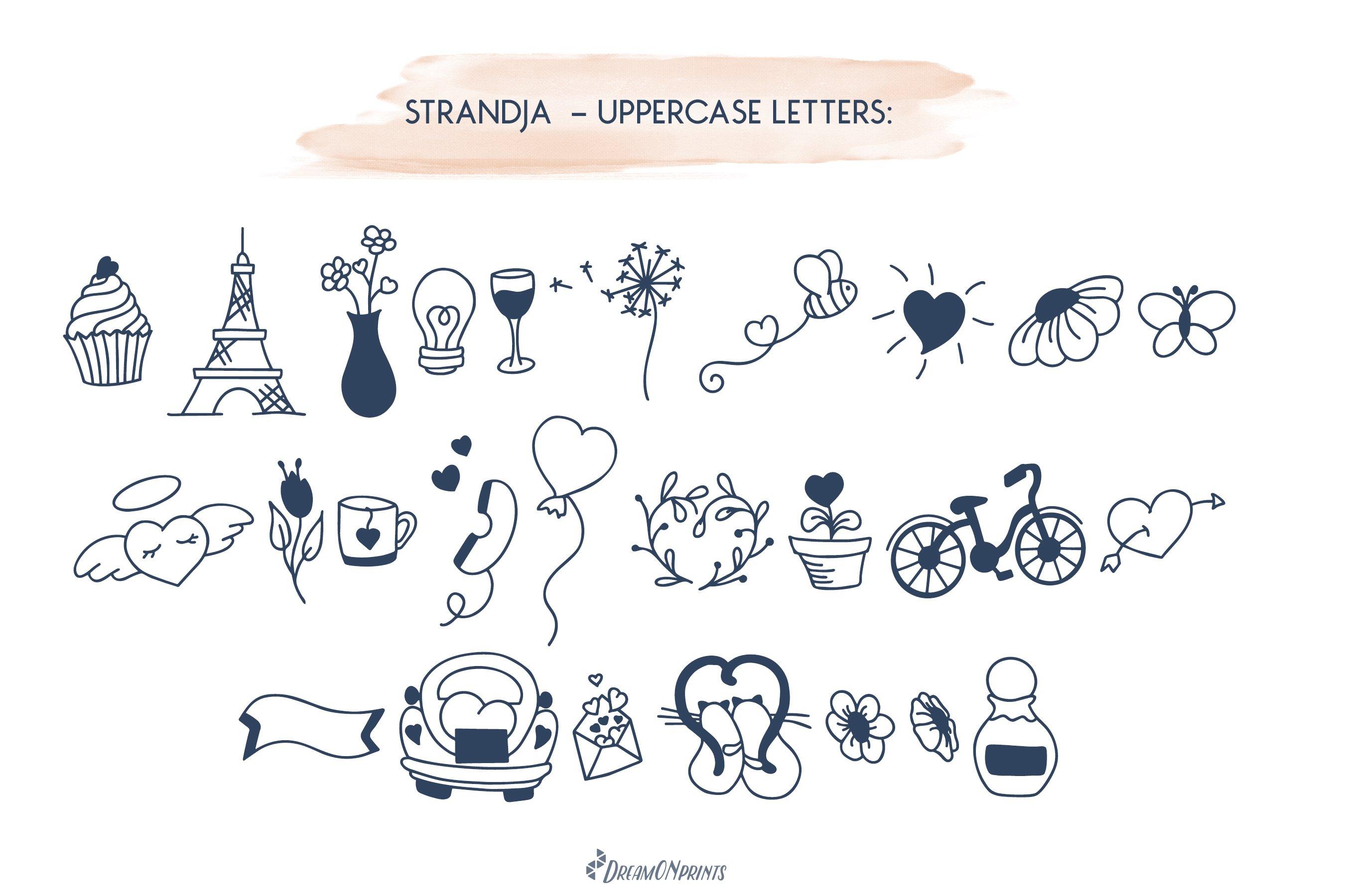 Strandja - Love Doodle Font example image 2