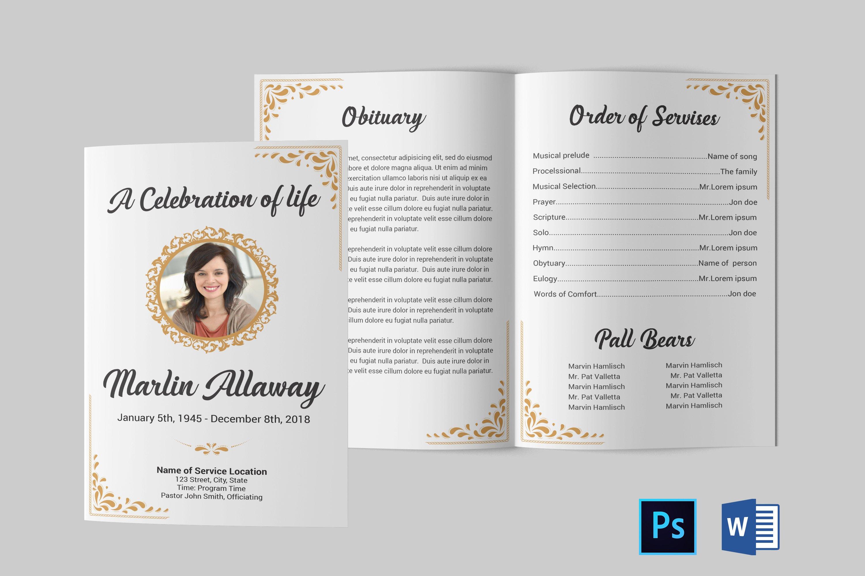 Funeral Program Template Obituary Template 706918 Brochures Design Bundles
