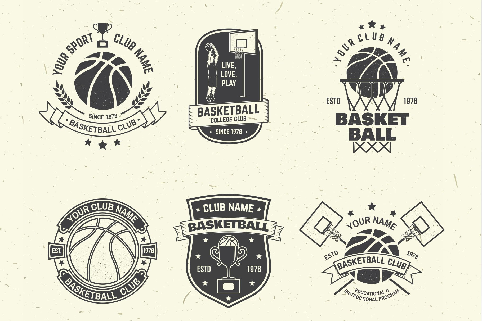 Basketball Club Badges and Labels example image 8