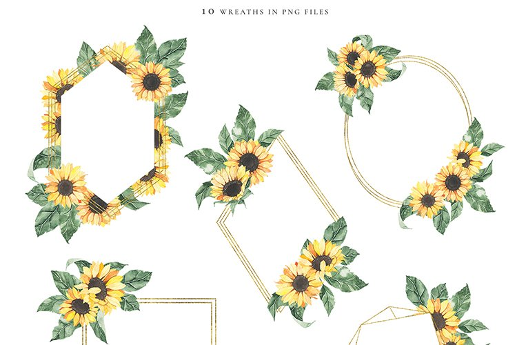 Watercolor Sunflowers collection example image 6