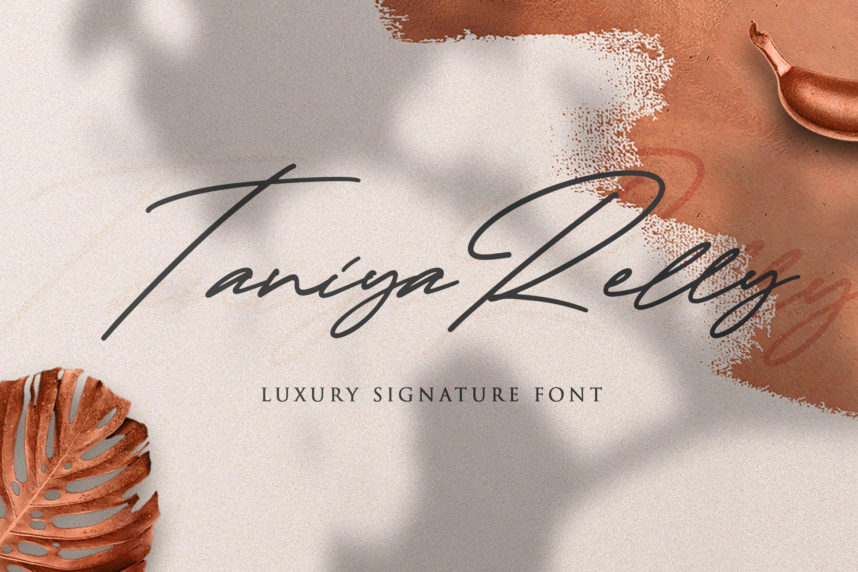 Taniya Relly - Luxury Signature Font example image 1