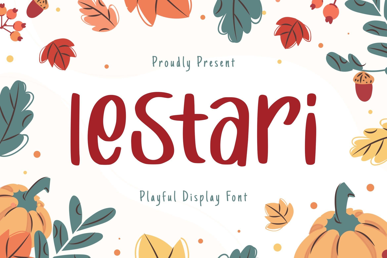 Lestari Display Font example image 1
