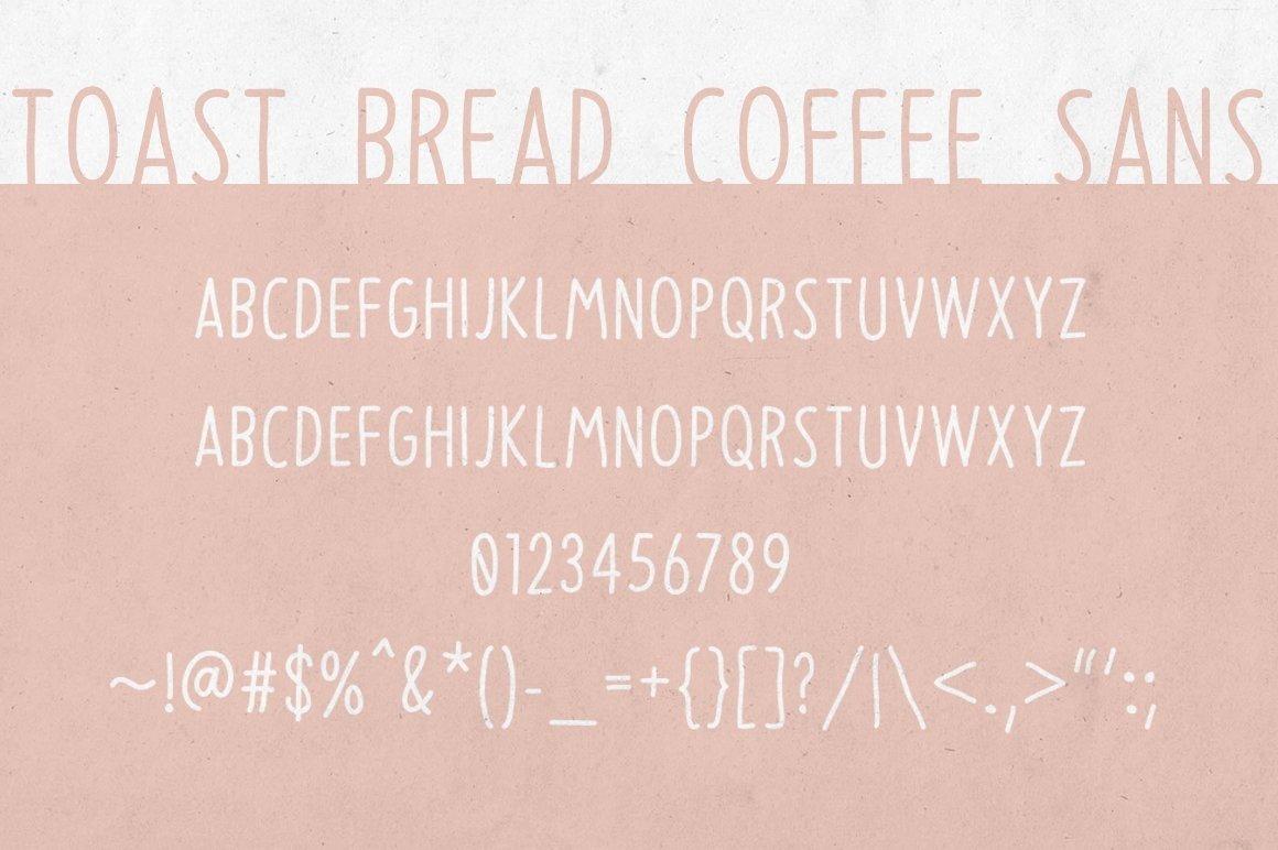 Toast Bread Coffee Typeface example image 3