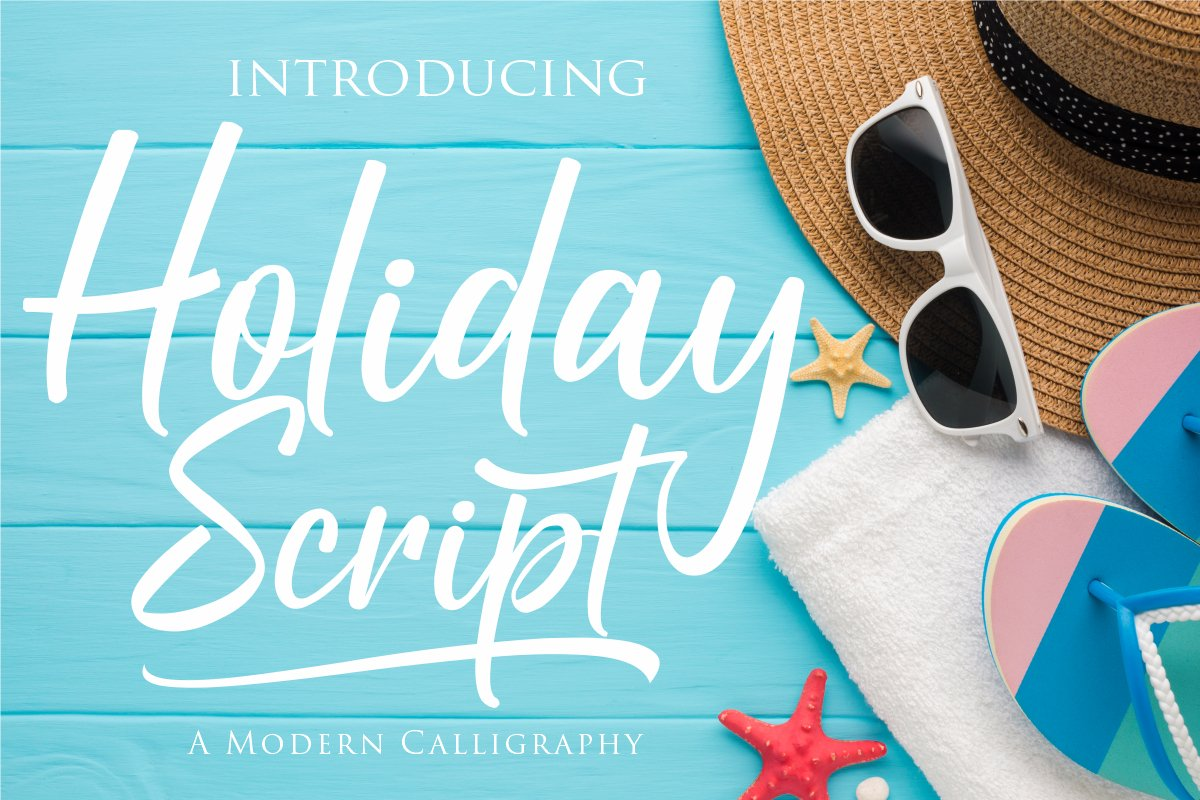 Holiday Script   A Modern Calligraphy example image 1