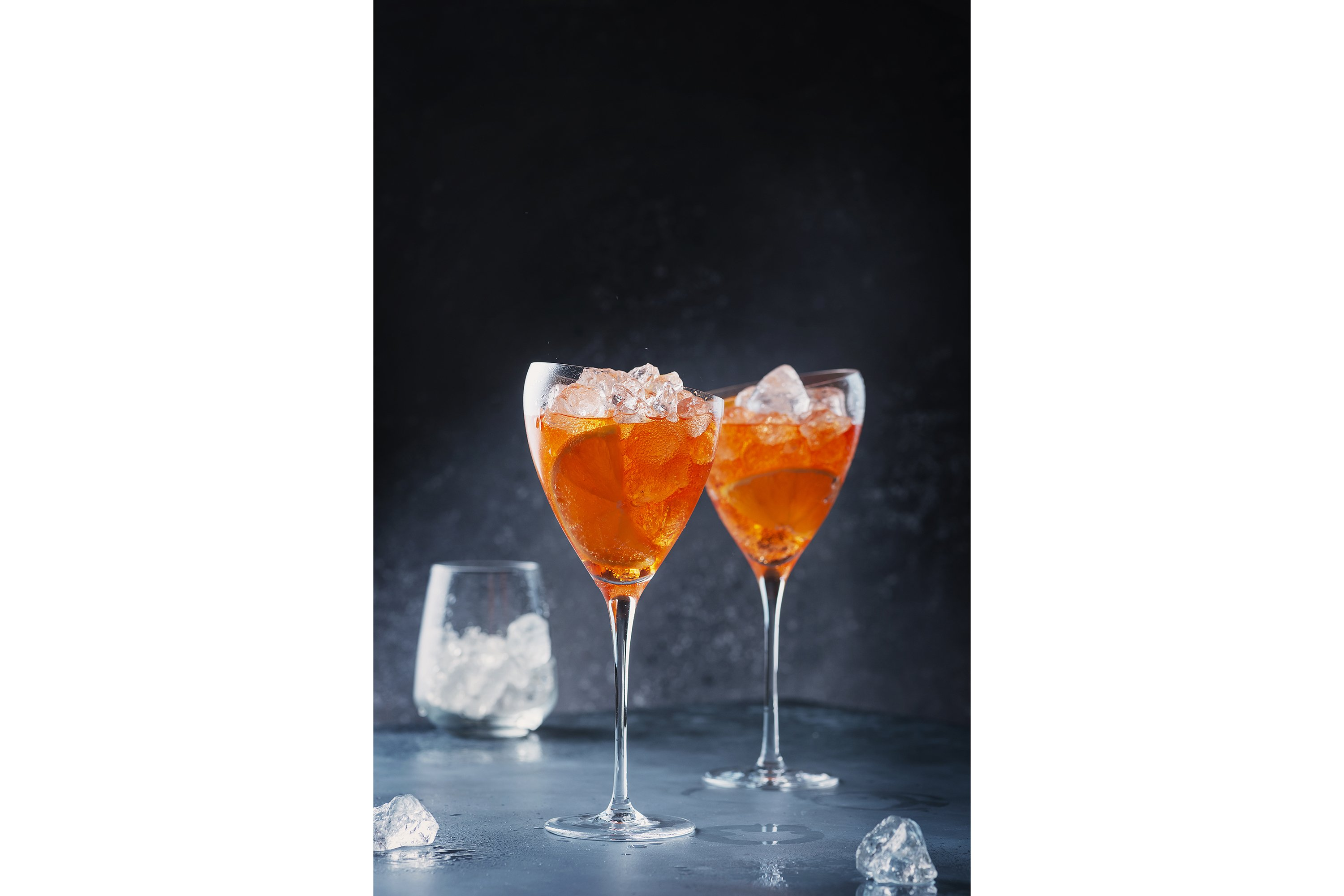 Traditional Italian aperitif Aperol Spriz with orange example image 1