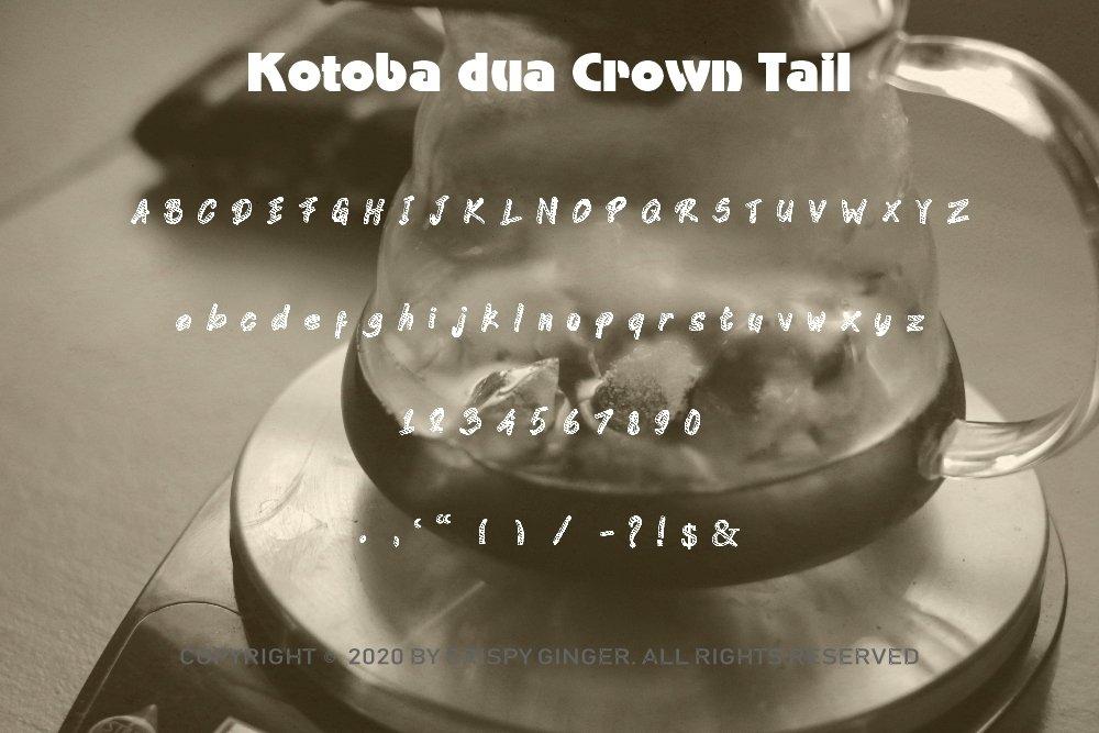 Kotoba Dua - 22 Font styles and 150 Swashes example image 8