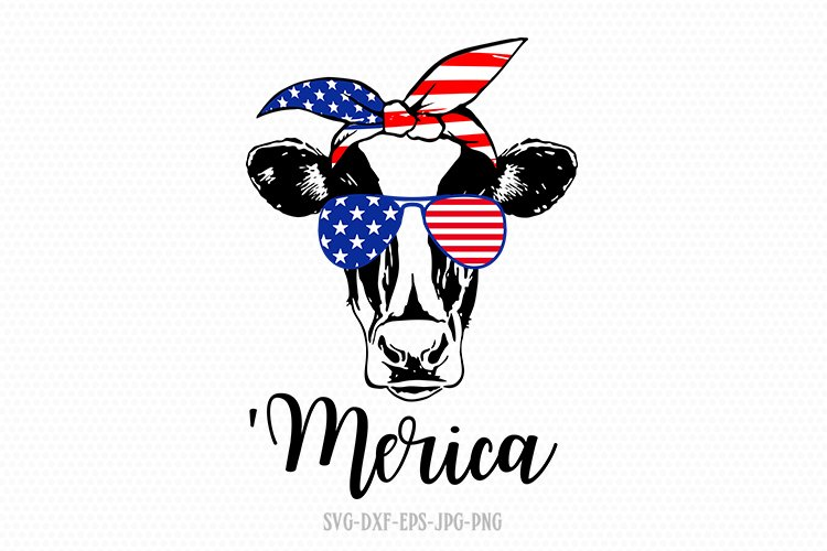 Merica Svg Heifer Cow Usa Usa Bandana Svg 4th Of July Svg 627587 Cut Files Design Bundles