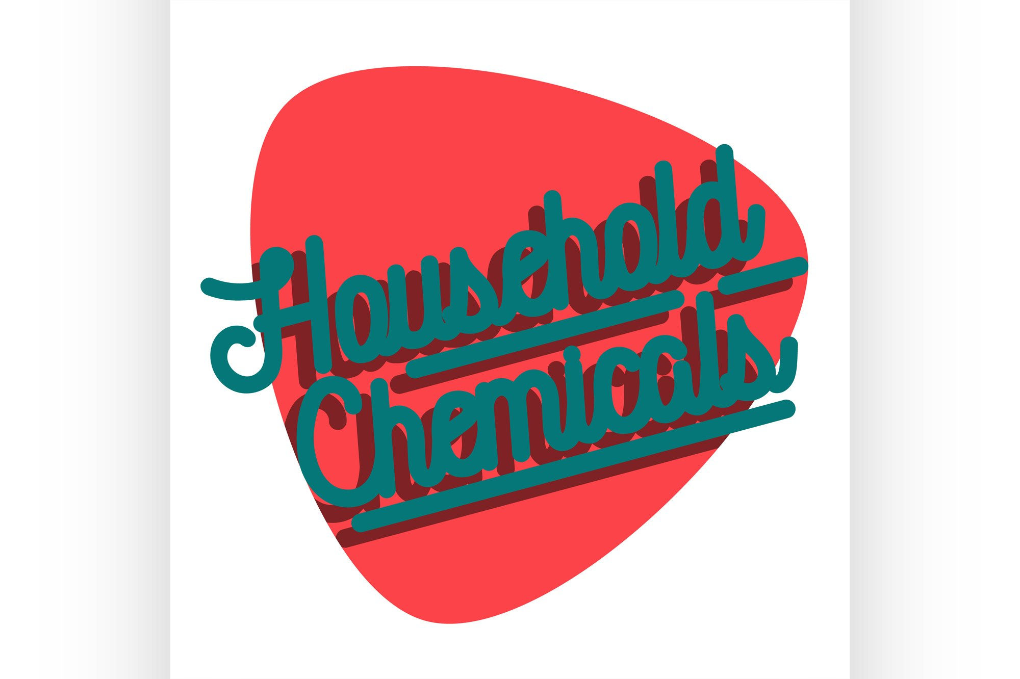 Color vintage household chemicals emblem example image 1