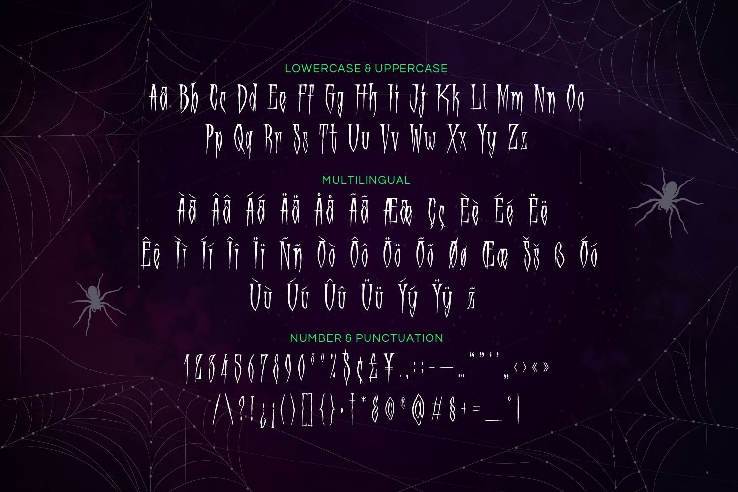 Scory - Spooky Display Font example image 5
