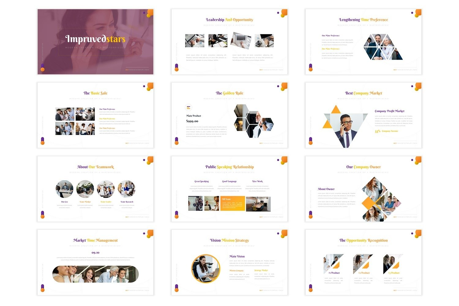 Impruvedstars - Powerpoint Template example image 3