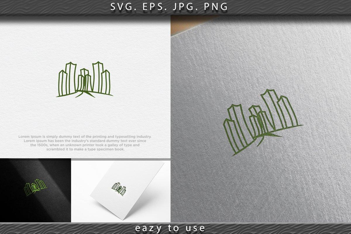 Mono Line City Town Logo Designs Inspiration Isolated On Whi 692498 Logos Design Bundles
