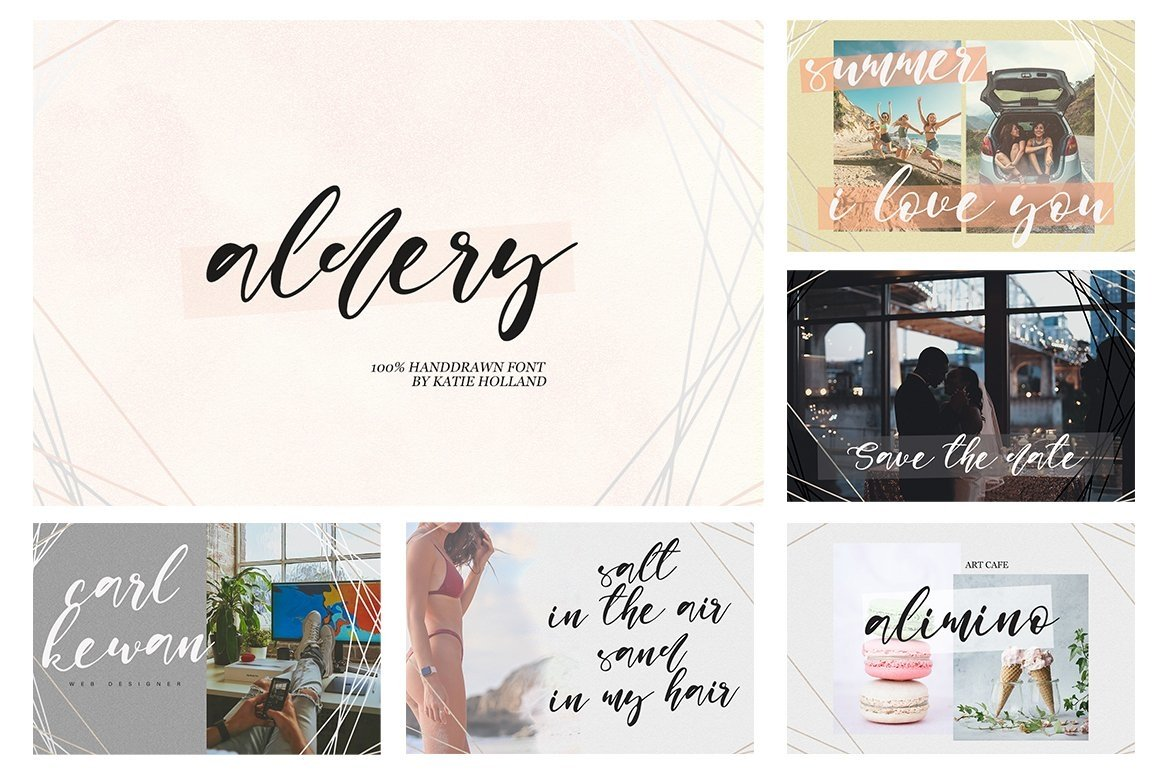 Font Bundle 70 in One example image 2
