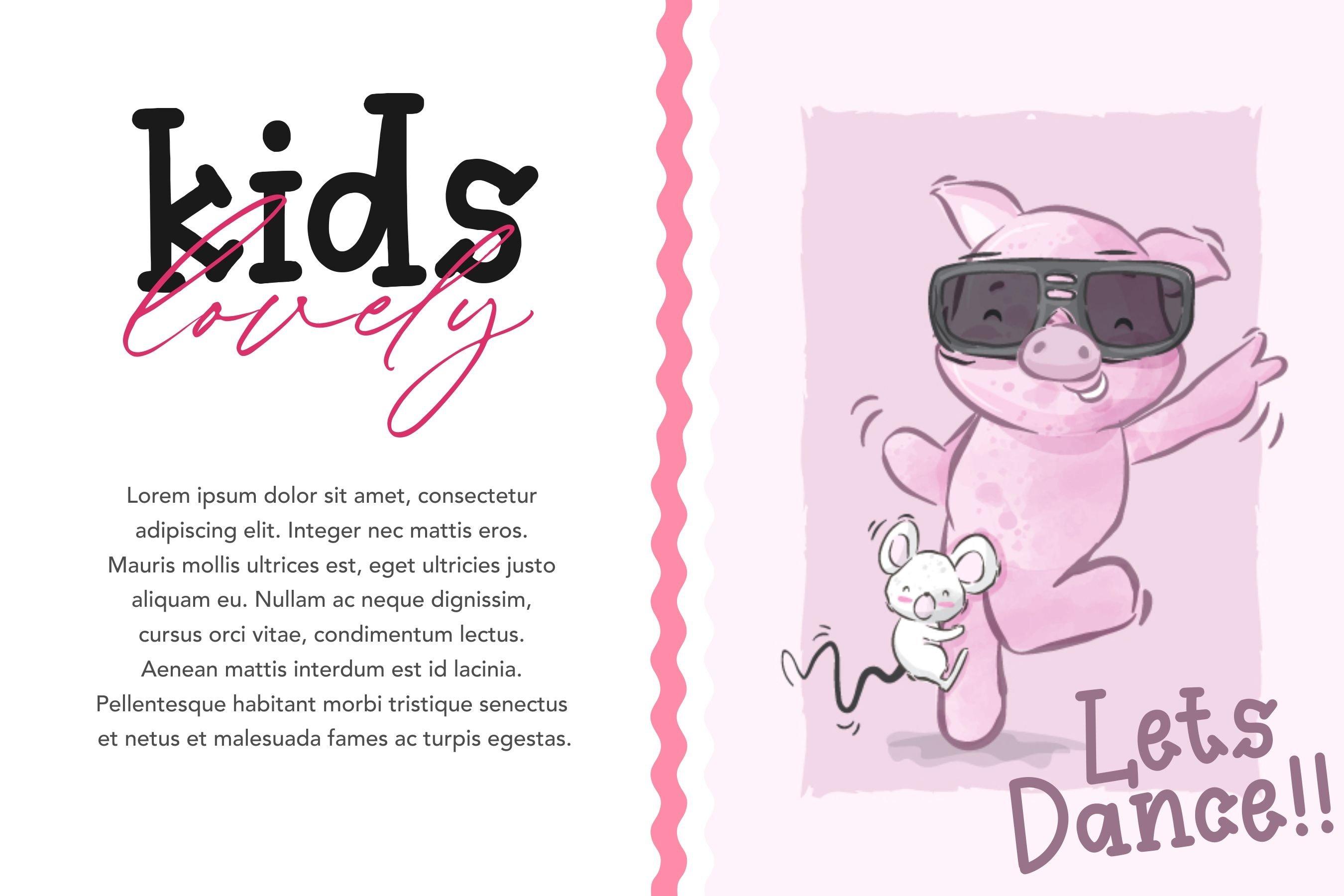 Kidsfun Cute Slab Serif Font example image 3