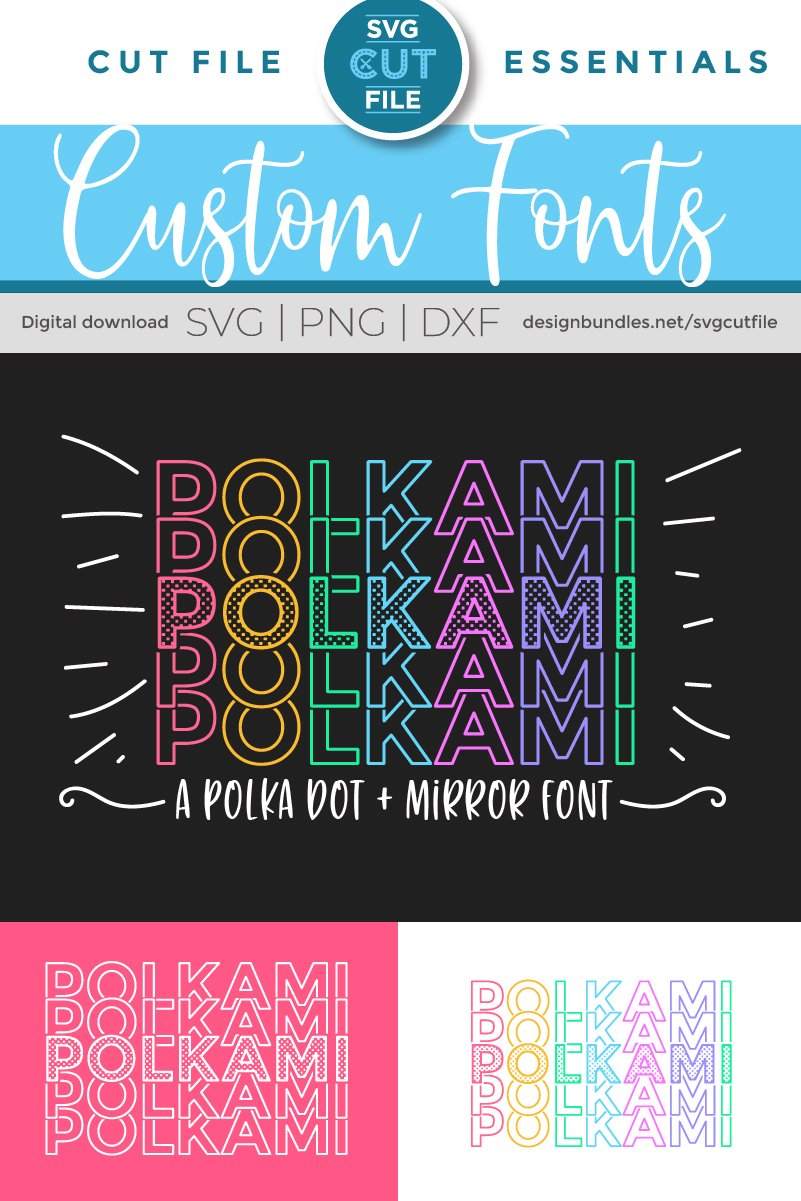 Polkami - a polka dot mirror font with stacked letters OTF example image 4