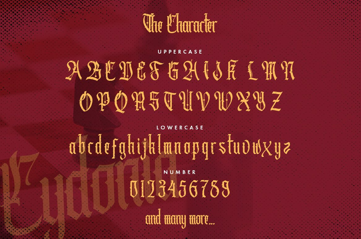Cydonia - The Blackletter Font example image 4
