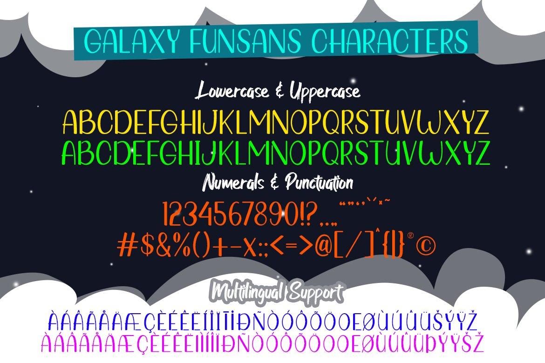 Galaxy Funsans | All Caps Fun Font example image 7
