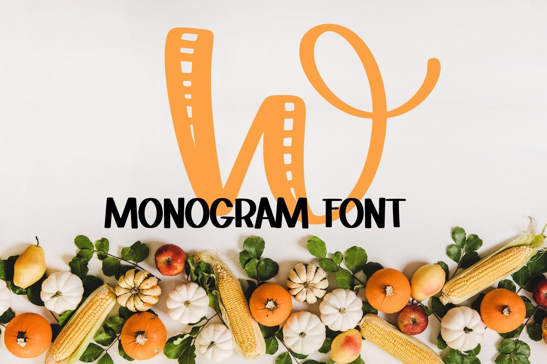 Monogram Striped Font - A Lovely Monogram Font example image 4