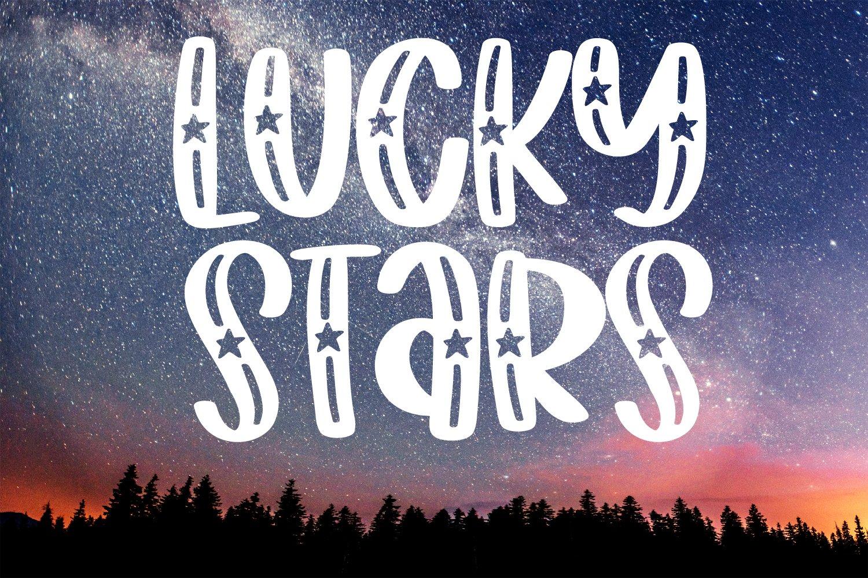 Starwish - A Shooting Star Font example image 5