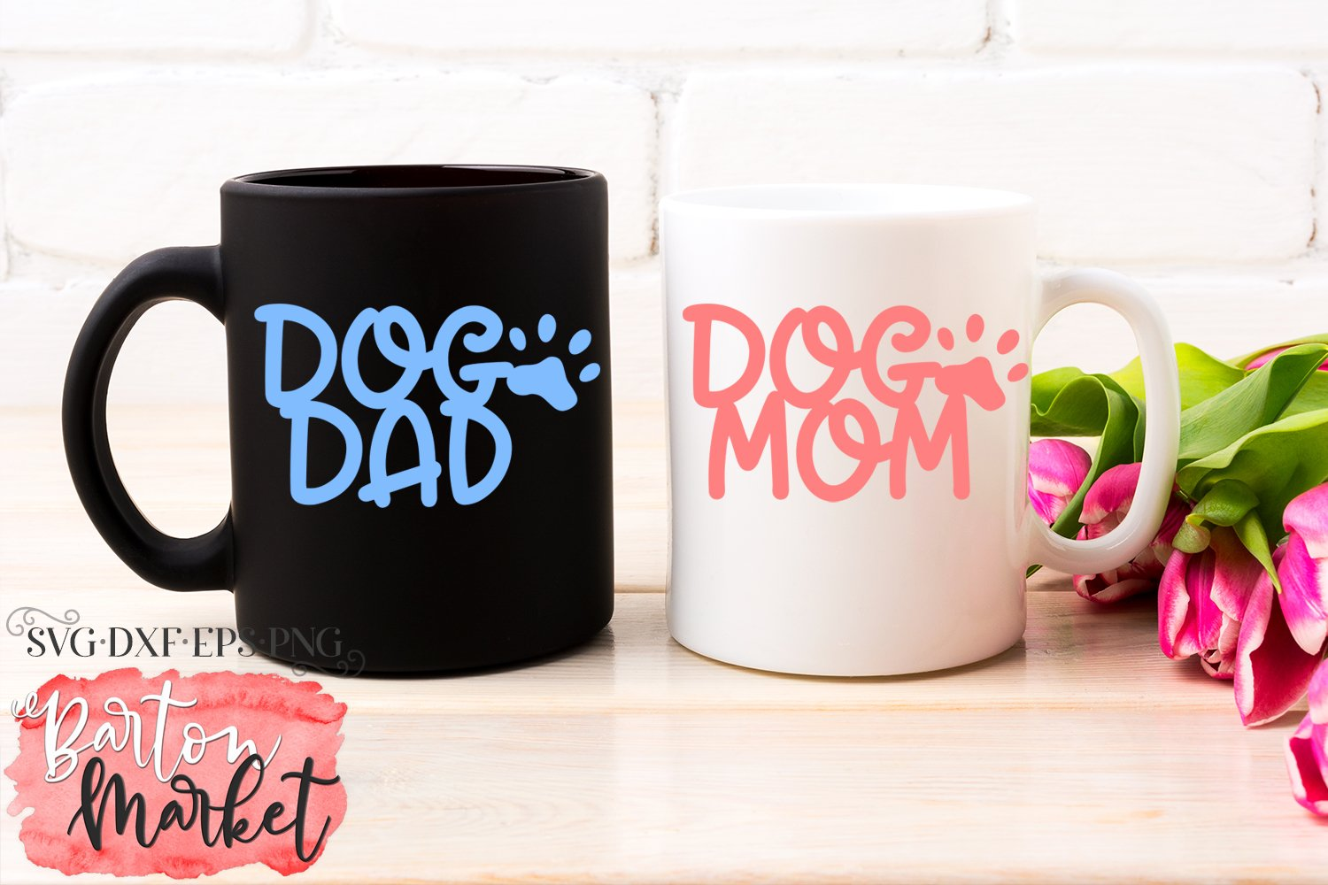 Dog Mom Dog Dad SVG DXF EPS PNG example image 3