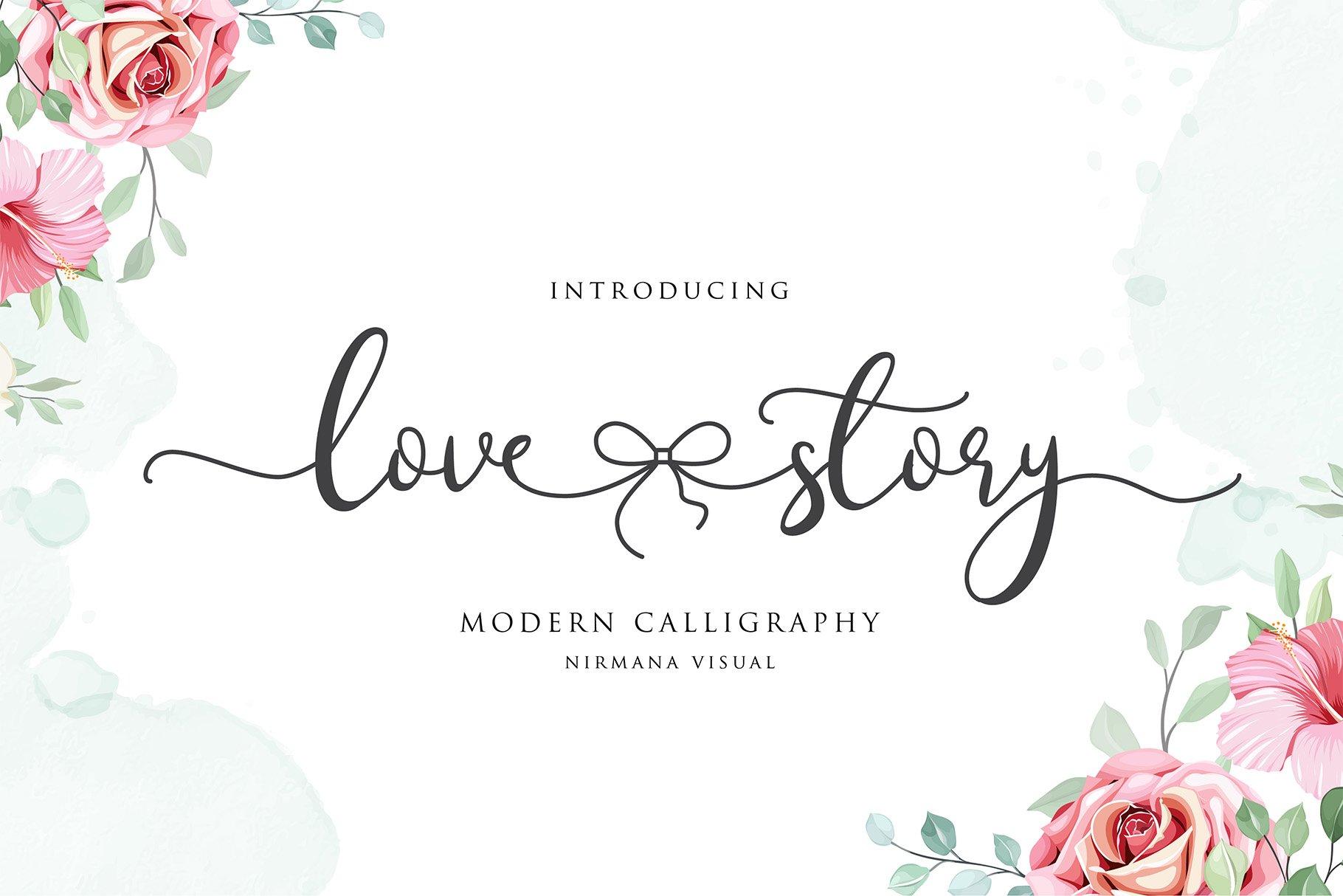 Lovestory - Romantic Font example image 1