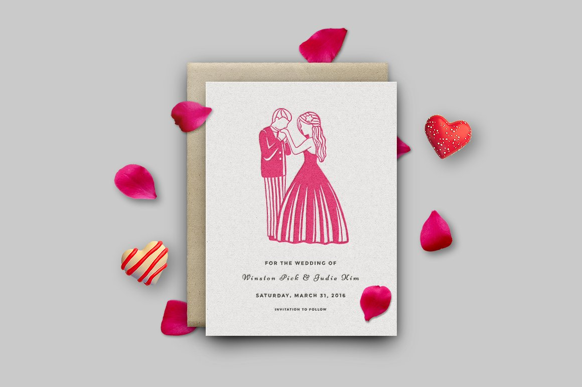 Paper cut / Love / Wedding Illustration / Save the Date example image 2