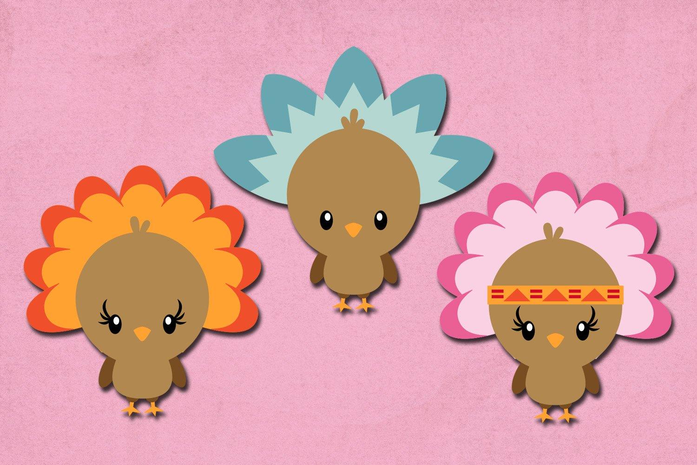 Thanksgiving Turkey Illustrations Clip Art example image 4
