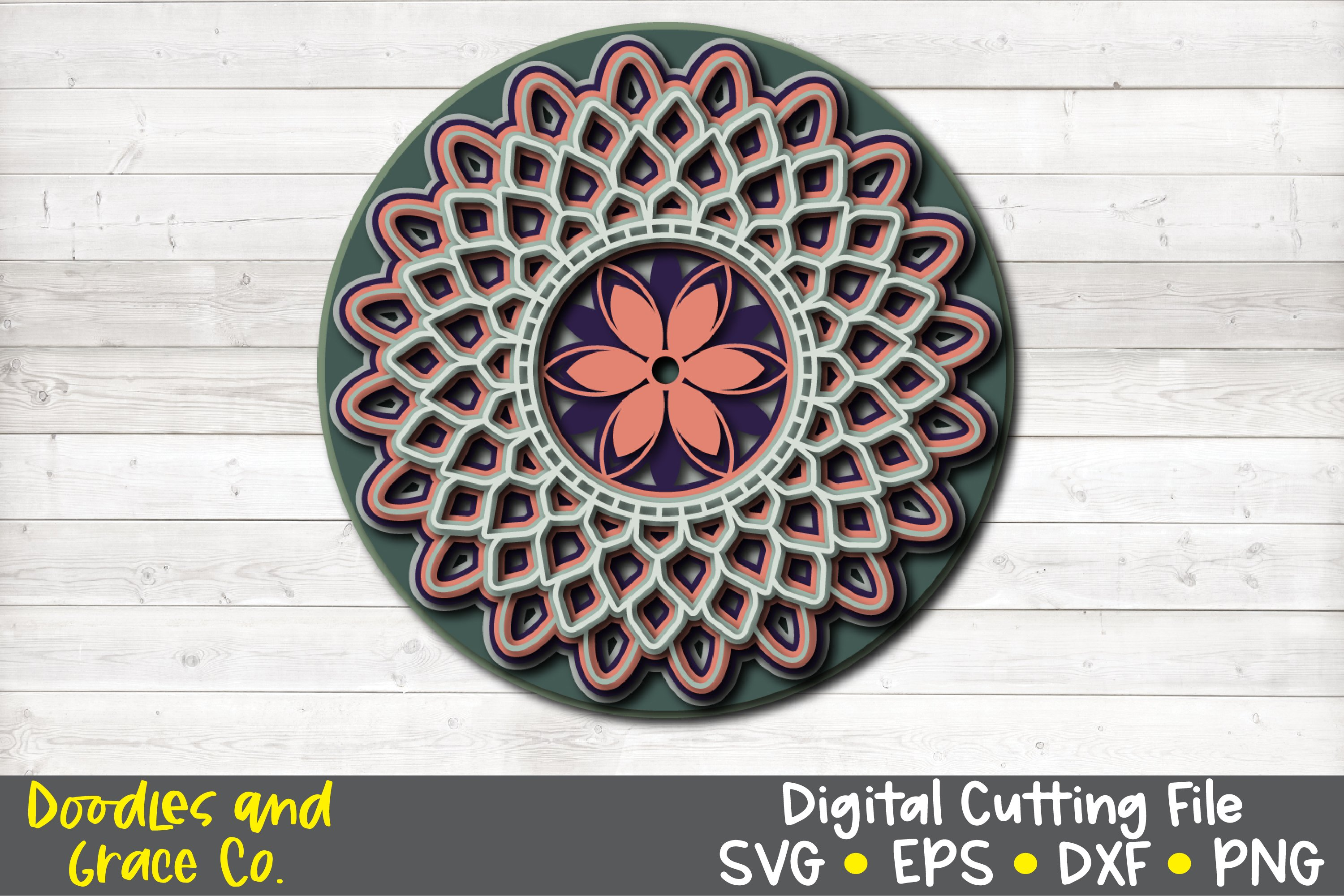 3D Layered Mandala Bundle - SVG - PNG - EPS - DXF example image 5