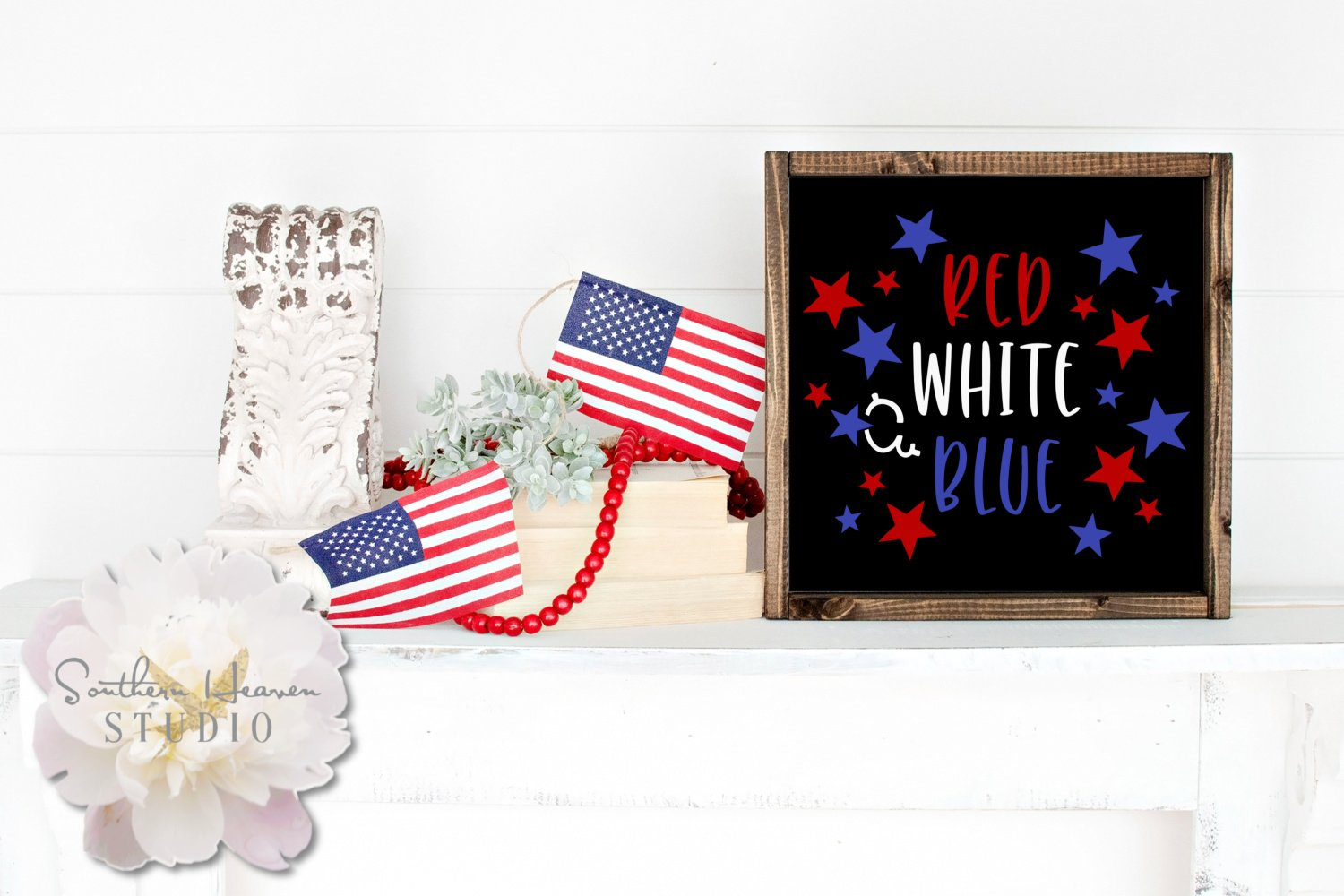 RED, WHITE & BLUE - SVG, PNG, DXF and EPS example image 2