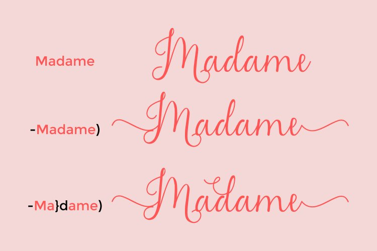 Madame Naila- Lovely Modern Calligraphy example image 5