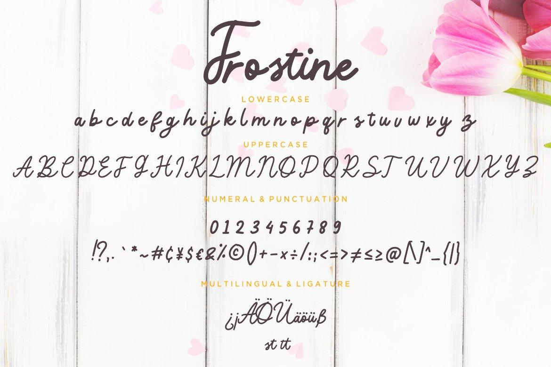 Frostine Monoline Typeface example image 3