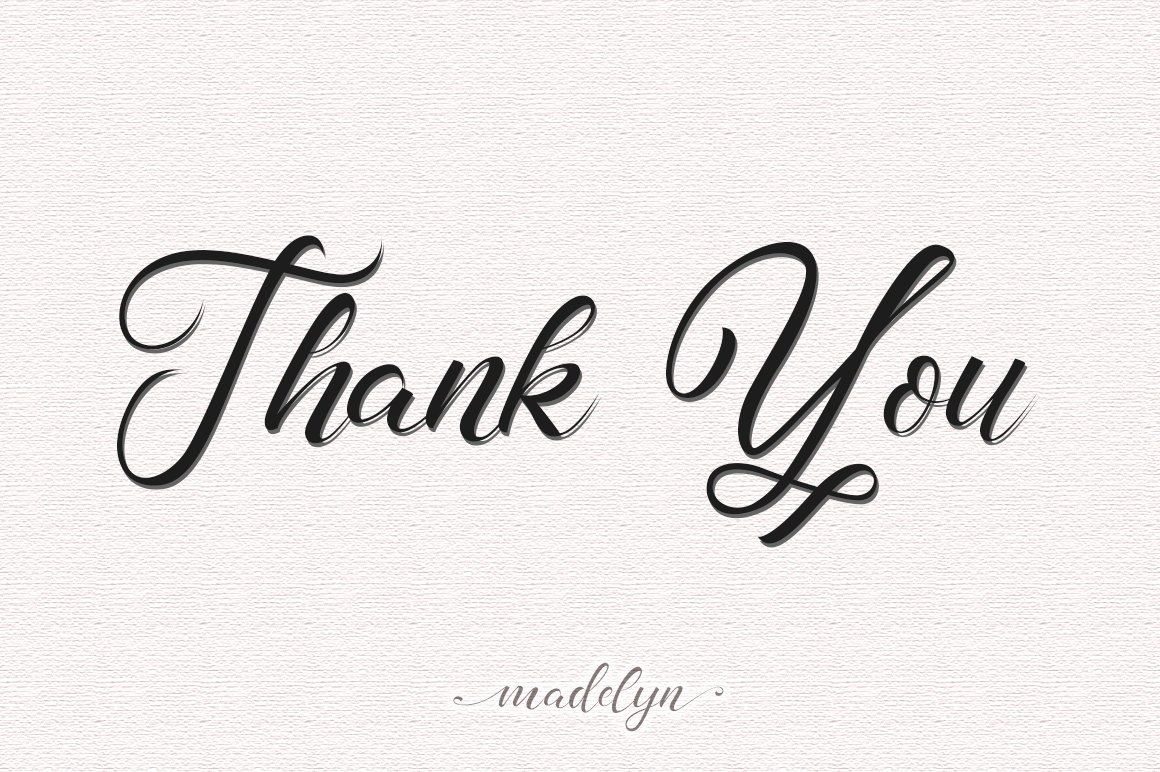 madelyn - Chic Script font example image 7