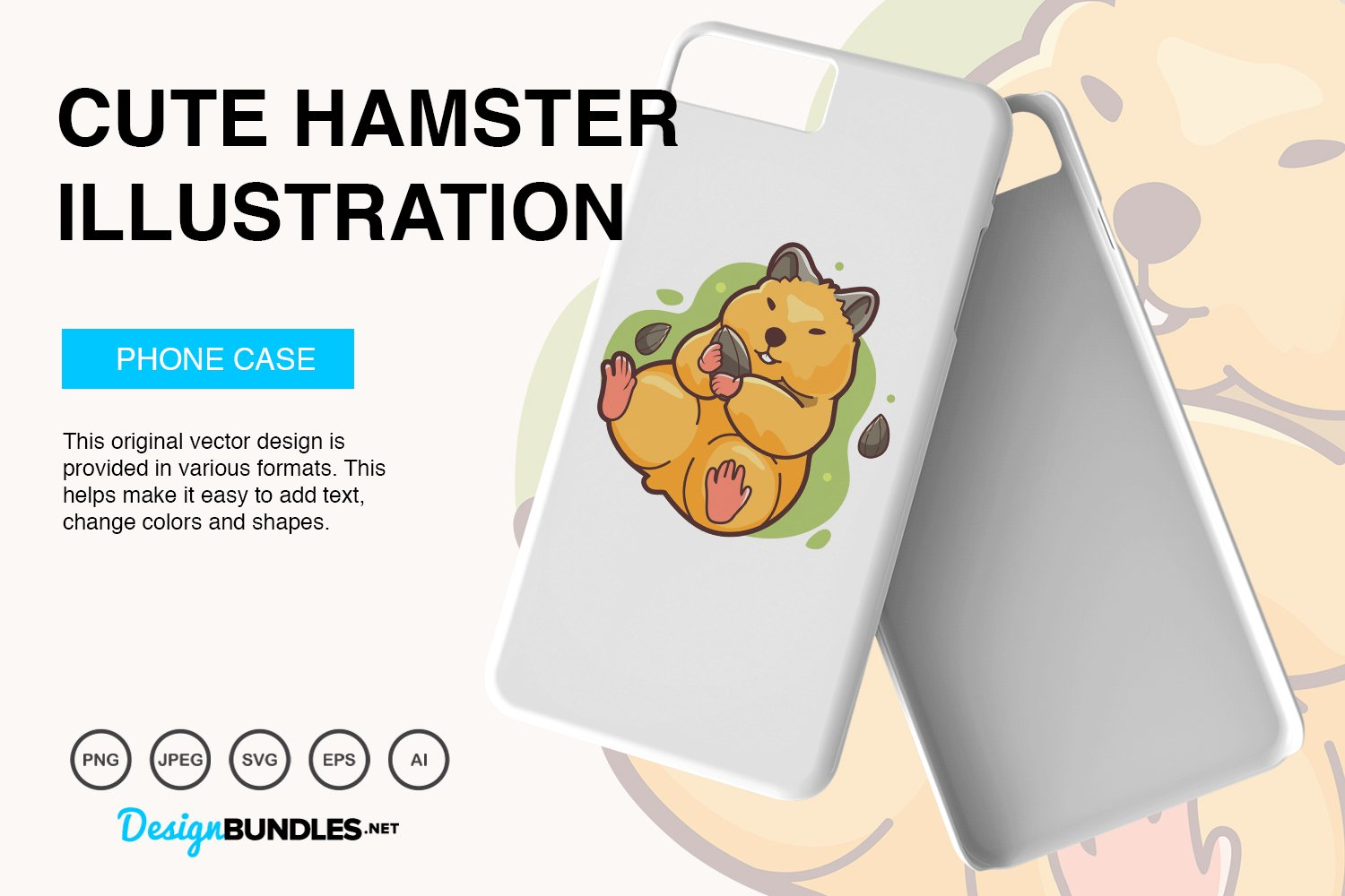Cute Hamster Vector Illustration example image 5