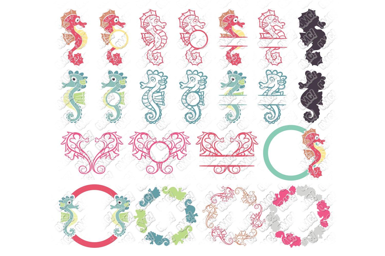 Seahorse Svg Monogram Bundle In Svg Dxf Png Jpeg Eps 105183 Monograms Design Bundles