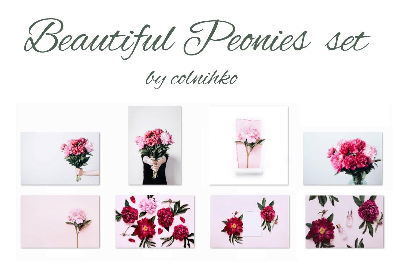 Beautiful peonies Set example image 3