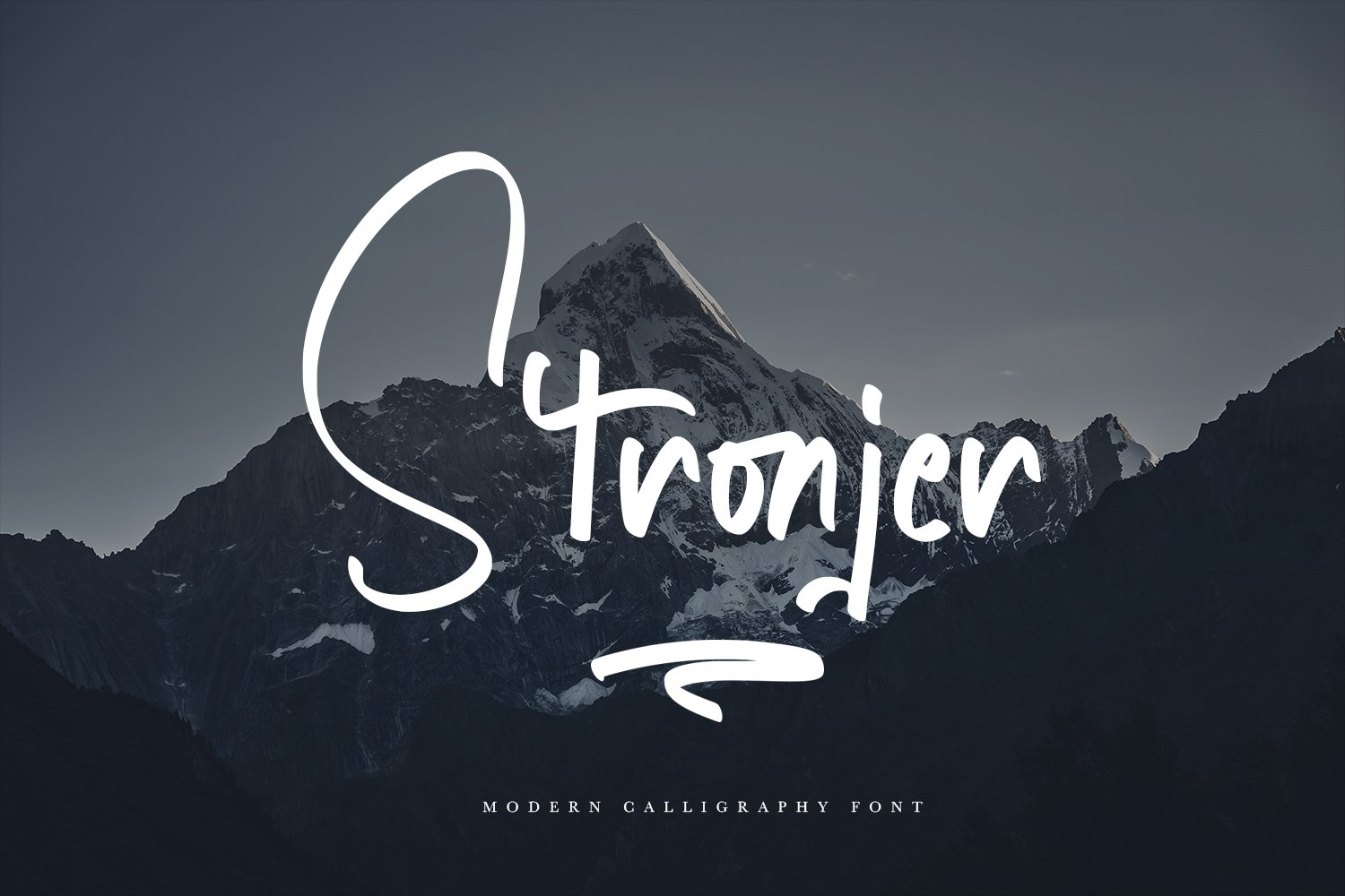 Stronjer - Script Fonts example image 1