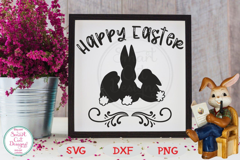 Easter Svg Happy Easter Svg Easter Bunnies Svg 523481 Cut Files Design Bundles