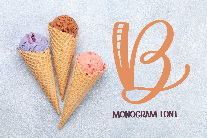 Monogram Striped Font - A Lovely Monogram Font example image 5