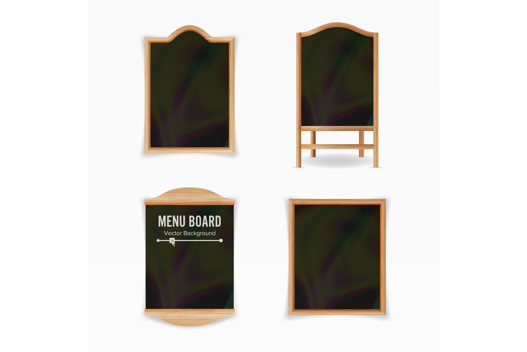 Menu Black Board Vector. example image 1