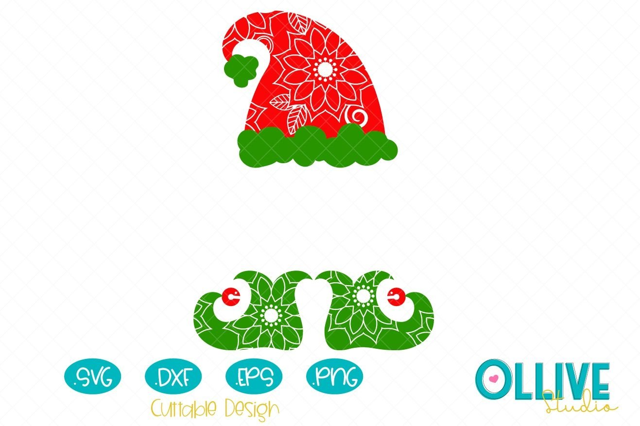 Christmas Elf Hat And Shoes Mandala Svg 405131 Cut Files Design Bundles