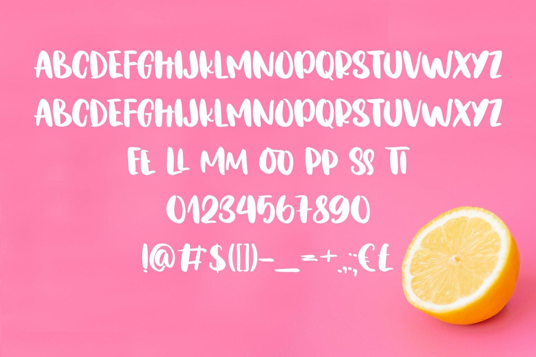 Lemon Night Font Duo example image 5