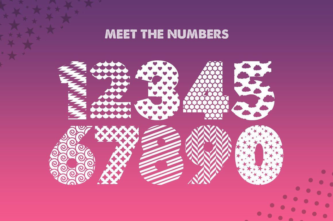 Pattern Silhouette Font example image 5