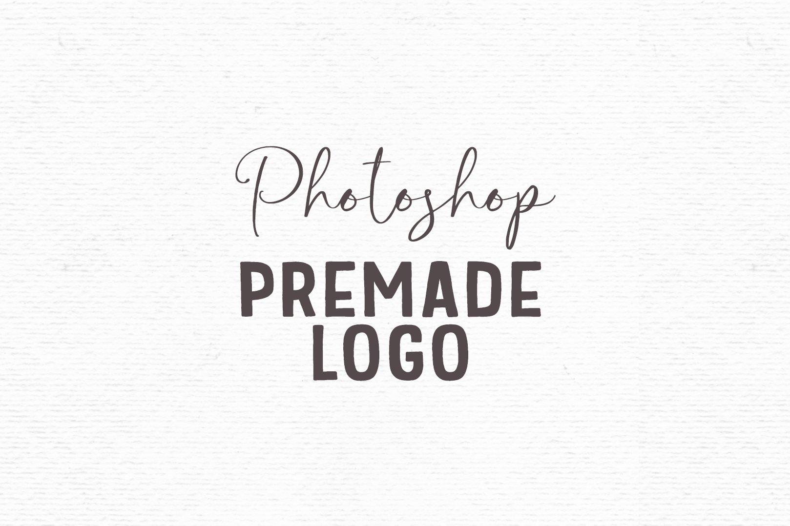 Premade logo design template for Photoshop | Flower logo example image 5