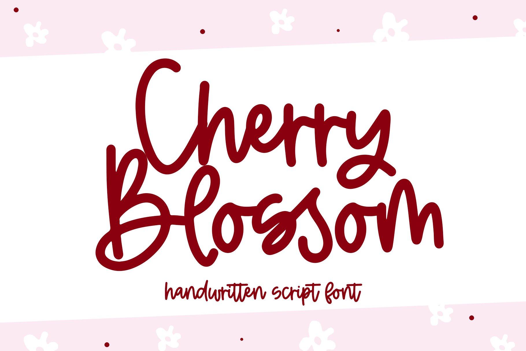 Cherry Blossom - A Handwritten Script Font example image 1