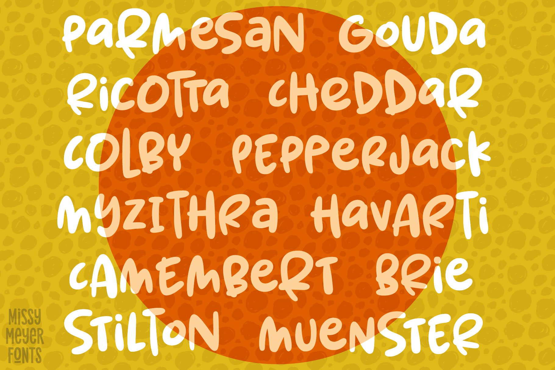 Spring Herbs - a bouncy, blobby, whimsical font! example image 4
