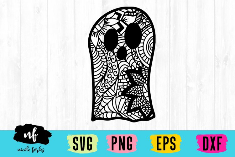 Ghost Zentagle SVG example image 1