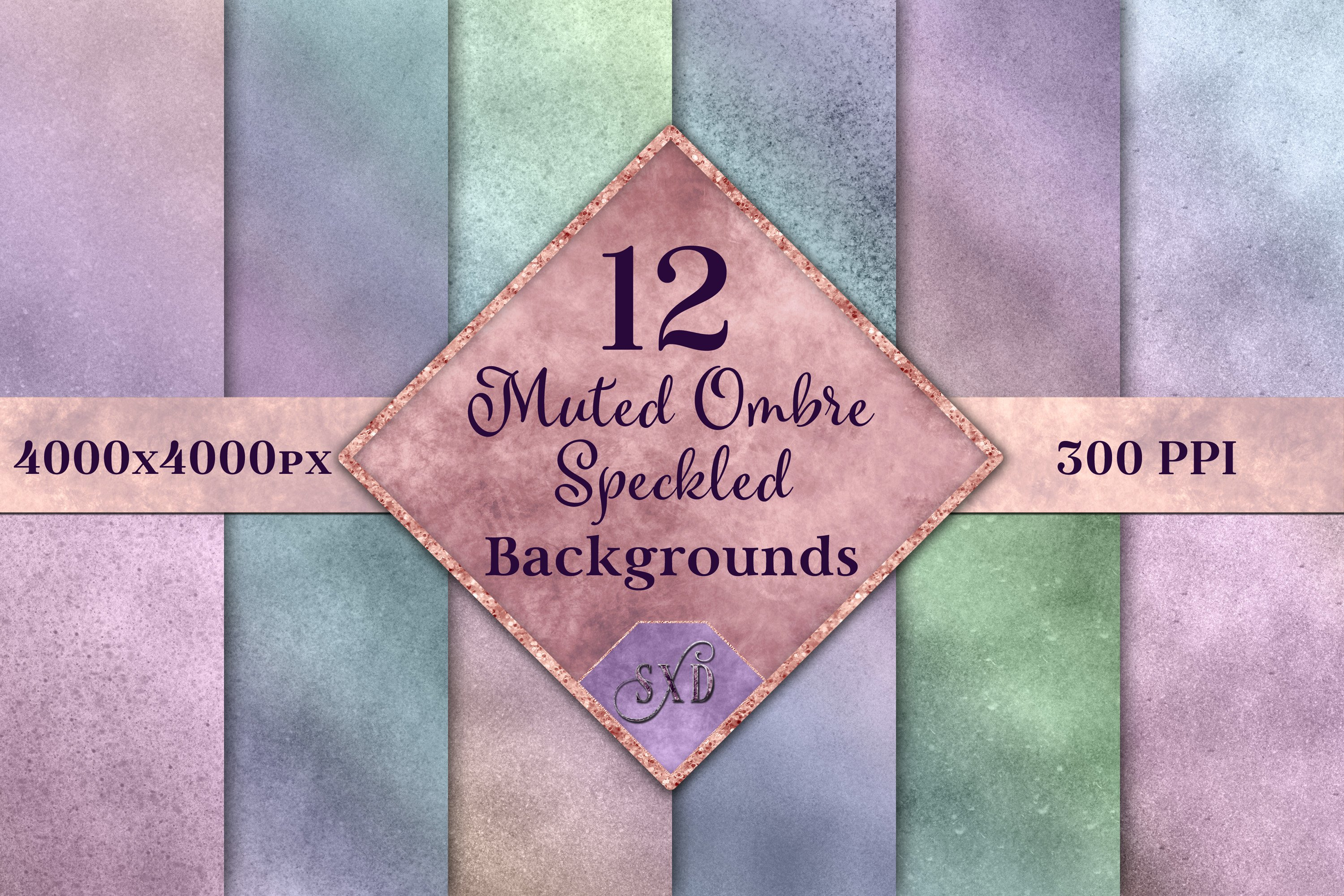 Muted Ombre Speckled Backgrounds example image 1