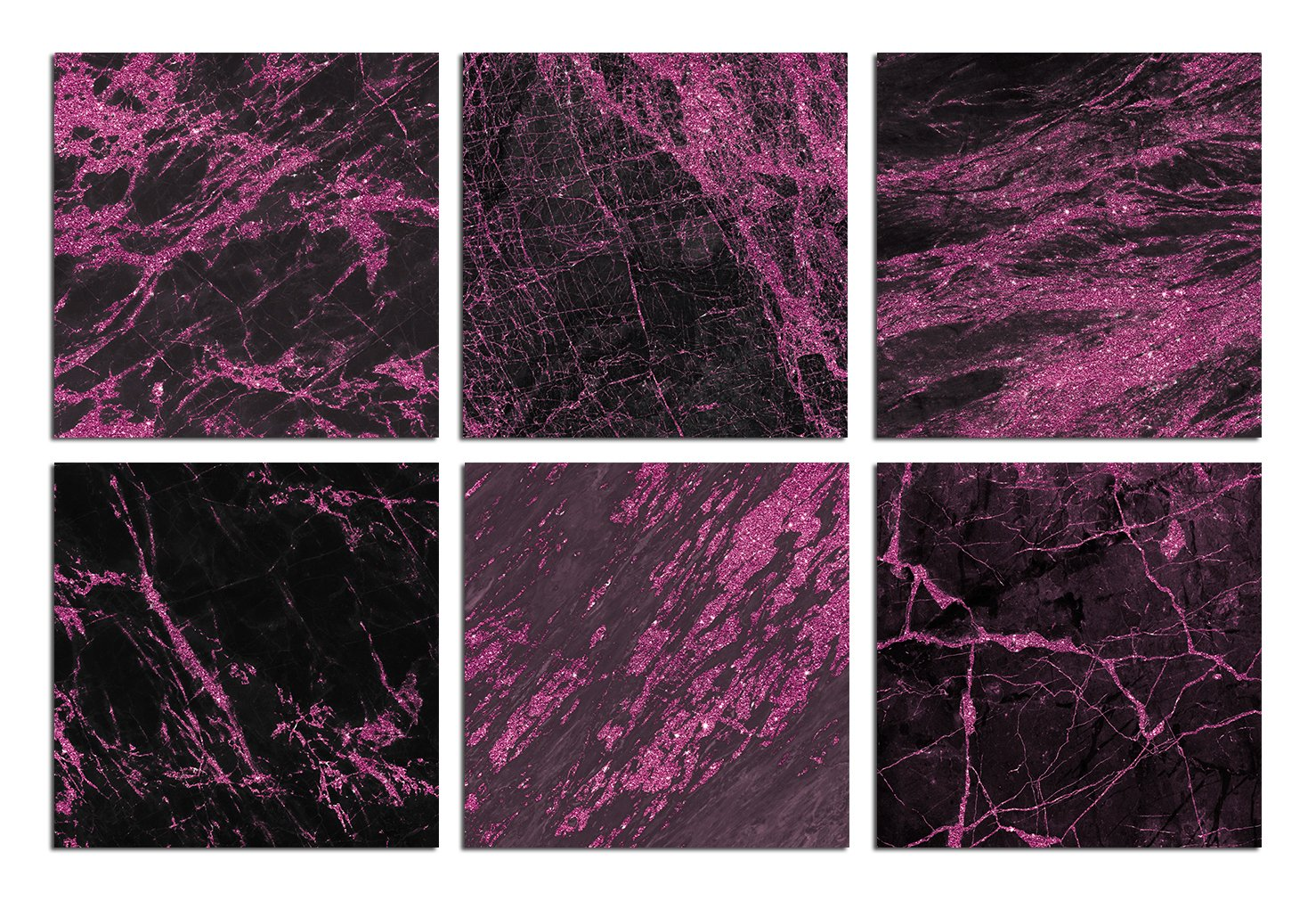 Valentine's Day Pink and Black Marble Textures example image 3