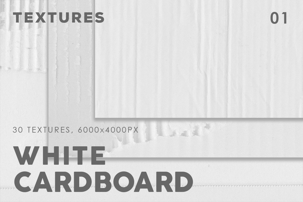 White Cardboard Textures 1 example image 1
