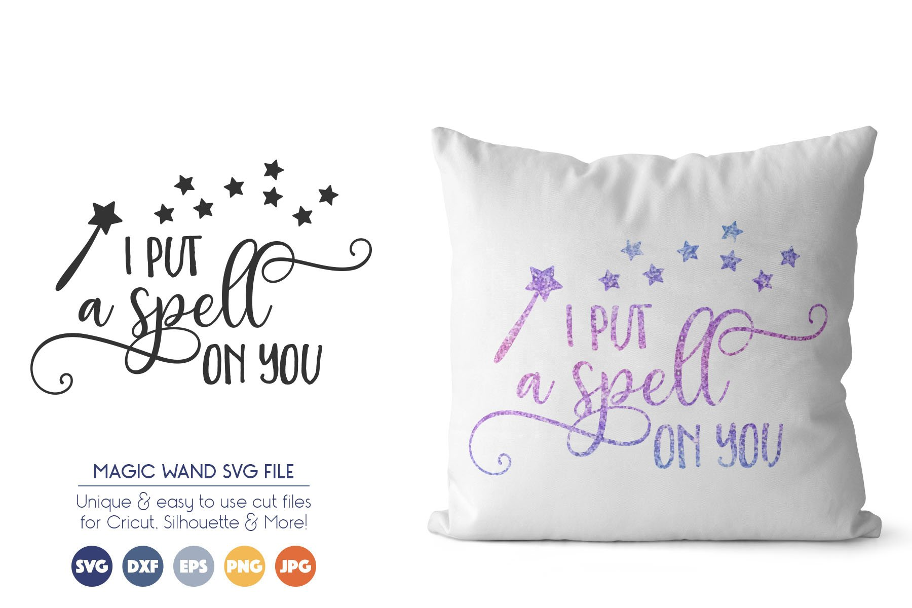 Fairy SVG Cut File - I Put a Spell on You example image 1