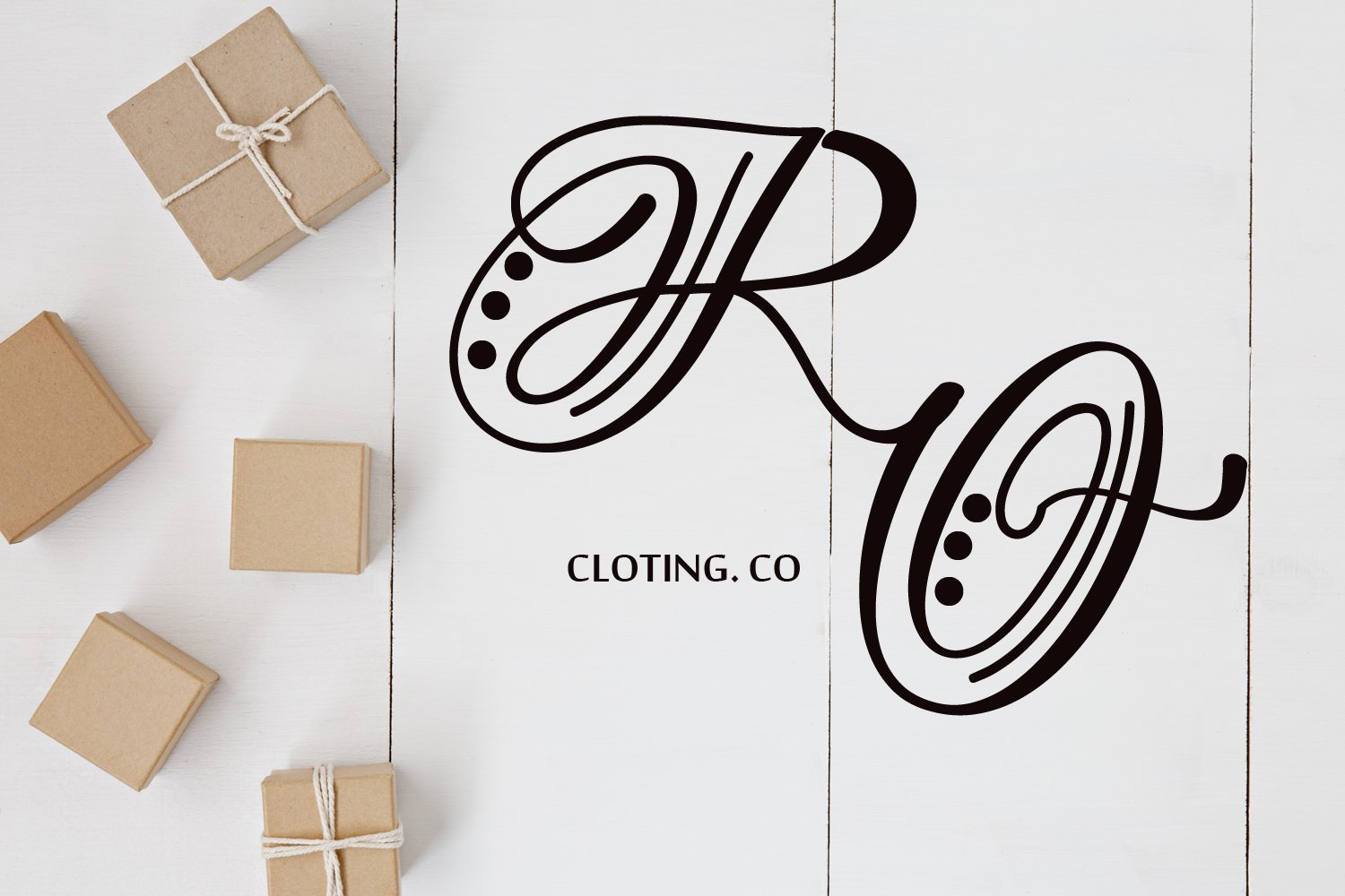 Hand Lettered Effect Monogram example image 5